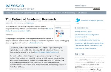http://eaves.ca/2011/12/22/the-future-of-academic-research/#.TvsEOa9jZc9.twitter