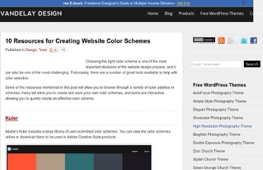 http://vandelaydesign.com/blog/design/website-color-schemes/