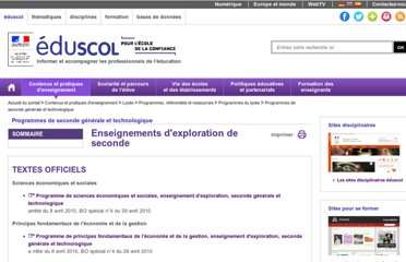 http://eduscol.education.fr/cid52775/enseignements-d-exploration-2nde.html