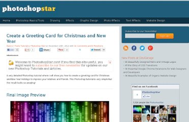 http://www.photoshopstar.com/basics/greeting-card-christmas/