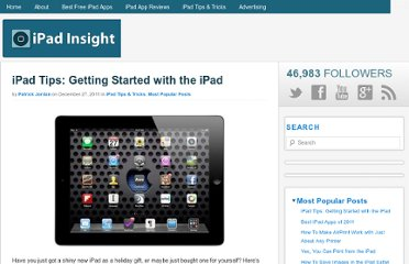 http://ipadinsight.com/ipad-tips-tricks/ipad-tips-getting-started-with-the-ipad/