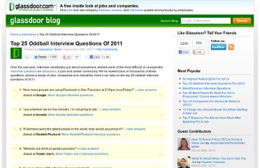 http://www.glassdoor.com/blog/top-25-oddball-interview-questions-2011/