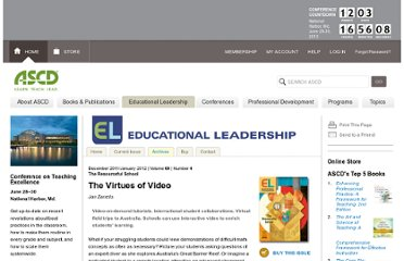 http://www.ascd.org/publications/educational-leadership/dec11/vol69/num04/The-Virtues-of-Video.aspx