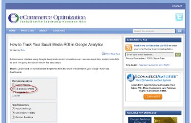 http://www.zencartoptimization.com/2010/02/11/how-to-track-your-social-media-roi-in-google-analytics/
