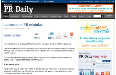 http://www.prdaily.com/Main/Articles/12_common_PR_mistakes__10437.aspx