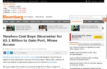 http://www.bloomberg.com/news/2011-12-23/yanzhou-coal-agrees-to-buy-gloucester-for-2-1b.html