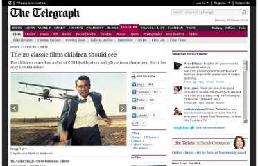 http://www.telegraph.co.uk/culture/film/8974027/The-20-classic-films-children-should-see.html