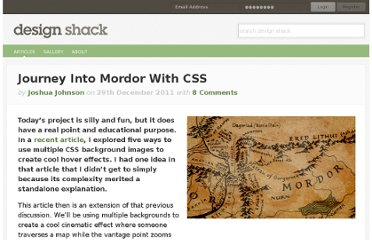 http://designshack.net/articles/css/journey-into-mordor-with-css/