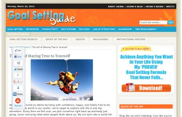 http://www.goal-setting-guide.com/staying-true-to-yourself
