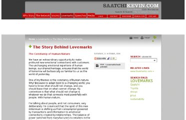 http://www.saatchikevin.com/The_Story_Behind_Lovemarks/