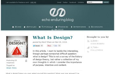 http://blog.echoenduring.com/2010/05/25/what-is-design/