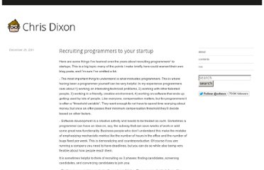 http://cdixon.org/2011/12/29/recruiting-programmers-to-your-startup/