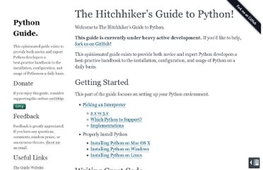 http://docs.python-guide.org/en/latest/index.html