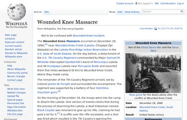 http://en.wikipedia.org/wiki/Wounded_Knee_Massacre