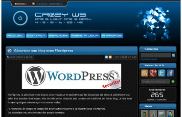 http://www.crazyws.fr/wordpress/securiser-son-blog-sous-wordpress-P73TC.html
