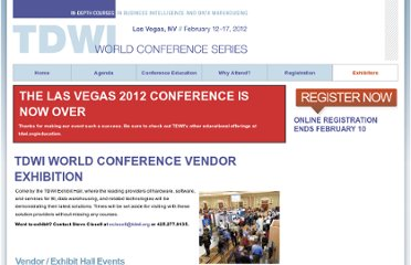 http://events.tdwi.org/events/las-vegas-world-conference-2012/information/exhibitors.aspx
