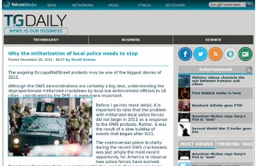 http://www.tgdaily.com/opinion/60457-why-the-militarization-of-local-police-needs-to-stop