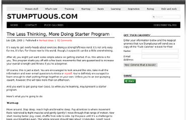 http://www.stumptuous.com/the-less-thinking-more-doing-starter-program