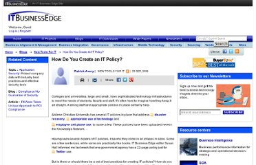 http://www.itbusinessedge.com/cm/blogs/itdownloads/how-do-you-create-an-it-policy/?cs=36145