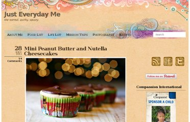 http://www.justeverydayme.com/mini-peanut-butter-nutella-cheesecakes/