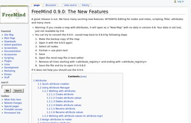 http://freemind.sourceforge.net/wiki/index.php/FreeMind_0.9.0:_The_New_Features