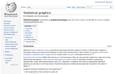 http://en.wikipedia.org/wiki/Statistical_graphics