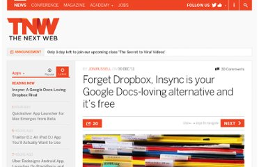 http://thenextweb.com/apps/2011/12/30/forget-dropbox-insync-is-your-google-docs-loving-alternative-and-its-free/