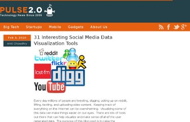 http://pulse2.com/2010/02/03/31-interesting-social-media-data-visualization-tools/
