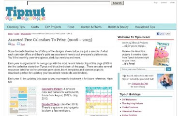 http://tipnut.com/cool-free-printable-calendars/