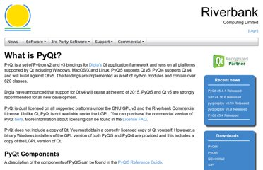 http://www.riverbankcomputing.co.uk/software/pyqt/intro