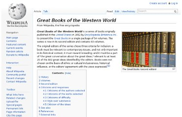 http://en.wikipedia.org/wiki/Great_Books_of_the_Western_World#History