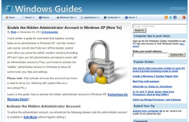 http://mintywhite.com/xp/xsecurity/enable-hidden-administrator-account-windows-xp/