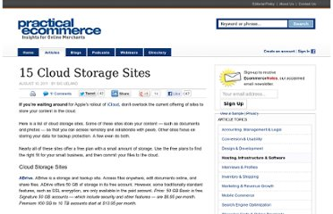 http://www.practicalecommerce.com/articles/2969-15-Cloud-Storage-Sites