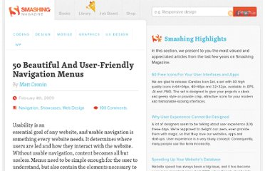 http://www.smashingmagazine.com/2009/02/04/50-beautiful-and-user-friendly-navigation-menus/
