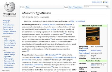 http://en.wikipedia.org/wiki/Medical_Hypotheses