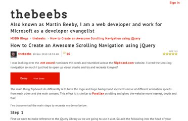 http://blogs.msdn.com/b/thebeebs/archive/2010/11/10/how-to-create-an-awesome-scrolling-navigation-using-jquery.aspx?WT.mc_id=soc-f-gb-loc-tar-Q4