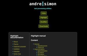 http://www.andre-simon.de/doku/highlight/en/highlight.html