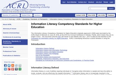 http://www.ala.org/acrl/standards/informationliteracycompetency