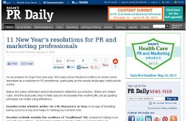http://www.prdaily.com/Main/Articles/11_New_Years_resolutions_for_PR_and_marketing_prof_10438.aspx