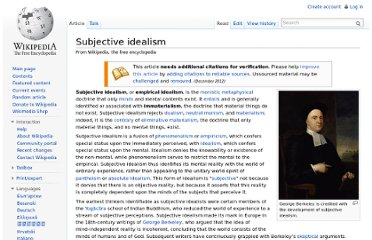 http://en.wikipedia.org/wiki/Subjective_idealism