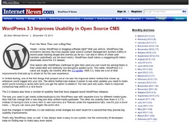 http://www.internetnews.com/blog/skerner/wordpress-3.3-improves-usability-in-open-source-cms.html