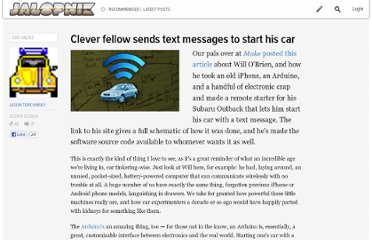 http://jalopnik.com/5869979/clever-fellow-sends-text-messages-to-start-his-car