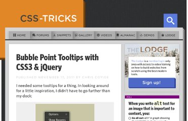 http://css-tricks.com/bubble-point-tooltips-with-css3-jquery/