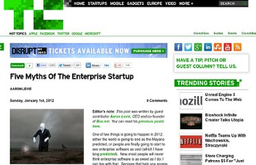 http://techcrunch.com/2012/01/01/five-myths-of-the-enterprise-startup/