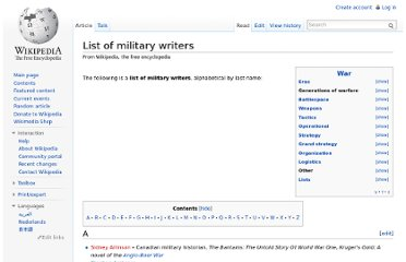 http://en.wikipedia.org/wiki/List_of_military_writers