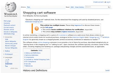 http://en.wikipedia.org/wiki/Shopping_cart_software