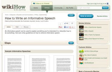 http://www.wikihow.com/Write-an-Informative-Speech