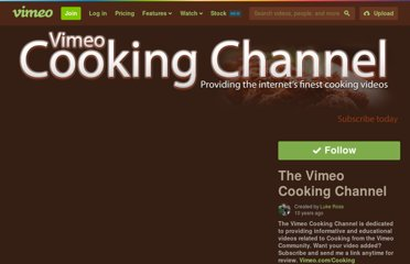 http://vimeo.com/channels/cooking