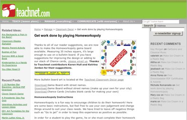 http://teachnet.com/manage/classroom-decor/get-work-done-by-playing-homeworkopoly/