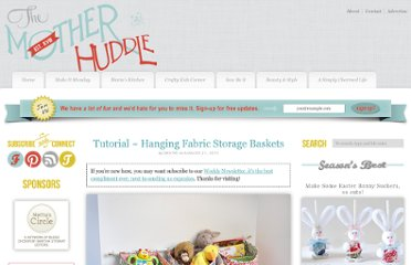 http://www.themotherhuddle.com/hanging-fabric-storage-baskets/